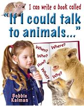 "I can write a book called ""If I could talk to animals ..."" - HC"